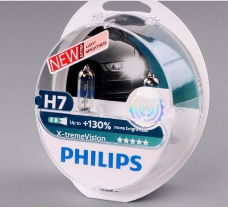 Philips 12V H7 X-treme Vision +130% Box
