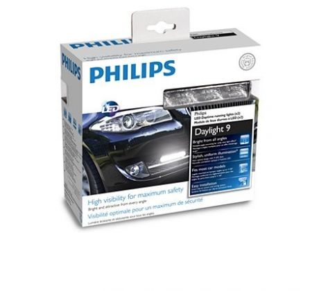 Philips LED 12V 2x3,5W denné svetlá- 6000 K - 9 LED